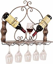 Metal Cup Holder Wall Hanging Wine Bottle Rack