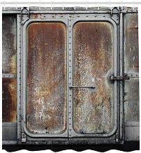 Metal Door Shower Curtain East Urban Home