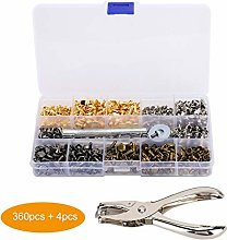Metal Double Sided Rivet Sewing Snap Fasteners Kit