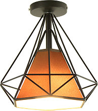Metal E27 ceiling lamp, iron cage ceiling light