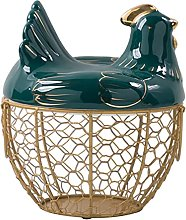 Metal Egg Basket with Cover and Handle Creativity