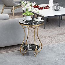 Metal End Table, Sofa Table Small Round Side