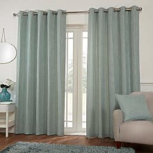 Metal Eyelet Ring Top Woven/Weave Effect Curtains