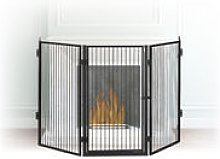 Metal Fireplace Screen, 5-Panel Safety Barrier,