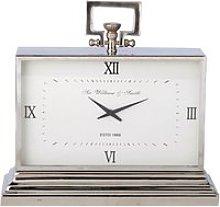 Metal Freestanding Clock in Chrome