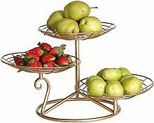 Metal Fruit Basket Storage, 3 Tier Fruit Bowls