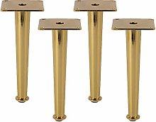 Metal Furniture Table Legs,4Pcs Golden Bed Shoe