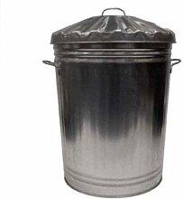 METAL Galvanised 95 litre bin for rubbish dustbin