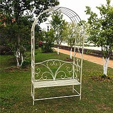 Metal Garden Arch With Bench Seat,Rose Arch Arbor