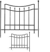metal garden fence, 2 fence panels, 3 posts,