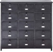 Metal industrial cabinet in black W 88cm Edison