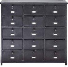 Metal industrial cabinet in black W 88cm