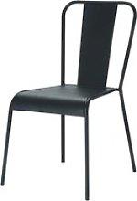 Metal industrial chair in black