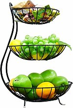 Metal Iron Practical Wire Basket, 3 Tier