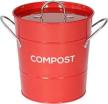 Metal Kitchen Compost Caddy - Composting Bin for