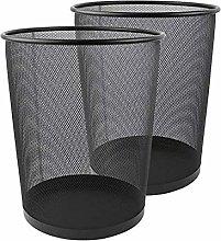 Metal Mesh Bin, Black Metal Trash Bin, Wastebasket