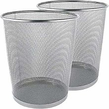 Metal Mesh Bin, Silver Metal Trash Bin,
