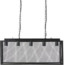 Metal Mesh Pendant Lighting Bar with 5 Bulb Holders