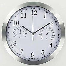 Metal Quartz Wall Clock,12 Inch Modern Silent