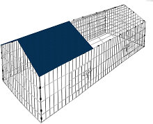 Metal Rabbit Run Cage Enclosure Playpen Hutch