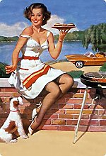 Metal Sign 20 x 30 cm Sexy Erotic Pin Up Grill