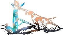 Metal Silhouette Dog Design Wall Decoration,