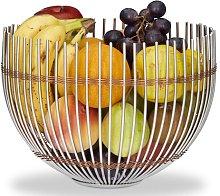 Metal Steel Fruit Bowl Symple Stuff