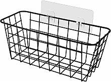 Metal Storage Basket, No Drilling Shower Rack,