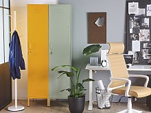 Metal Storage Cabinet Green Metal Locker with 5 Shelves and Rail