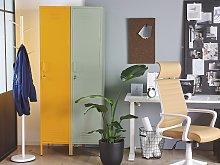 Metal Storage Cabinet Yellow Metal Locker with 5