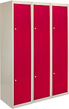 Metal Storage Lockers Lockable 2 Door Flat Packed