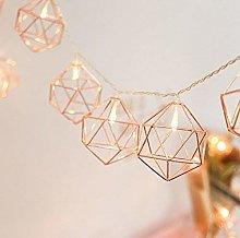 Metal String Lights, EONHUAYU 1M 10LED Geometric