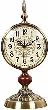 Metal Table Clock, Silent Non Ticking Quartz