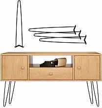 Metal Table Legs, 4 × Heavy Duty Modern Style