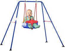 Metal Toddler Swing Set Baby Seat Safety Harness