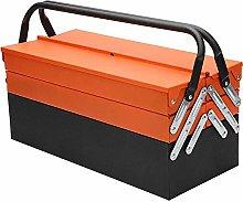 Metal Tool Box 3 Tier 5 Tray Professional Portable
