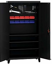 Metal Tool Cabinet Garage Storage High Cabinet