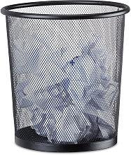 Metal Trash Can, Mesh Waste Basket, Paper Bin, 23