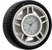 Metal Tyre Stop Watch Style Desk \ Mantel Clock