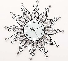 Metal Wall Clock 23.5 , Black Glass Dial With