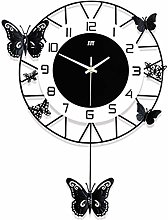 Metal Wall Clock, Retro Black and White Creative