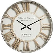 Metal Wall Clock with Cut Out Shabby Chic Dial -