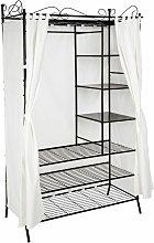 Metal wardrobe with curtains - canvas wardrobe,