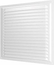 Metal White Air Vent Grille with Fly Screen Duct