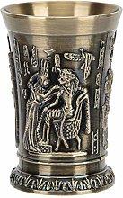 Metal Wine Goblet, Vintage Whiskey Shot Glass