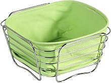 Metal/Wire Basket Kesper Colour: Green, Size: 11