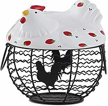 Metal Wire Egg Storage Basket, Egg Collecting