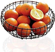 Metal Wire Fruit Basket - Retro Hand-Woven Storage