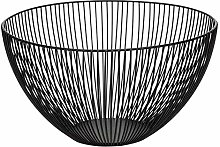 Metal Wire Fruit Bowl Basket, Round Black Fruit