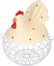 Metal Wire Mesh Egg Storage Basket Resinous Farm